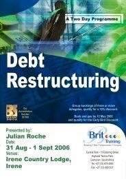 debt restructuring jon.pdf - CRS Turnaround Management