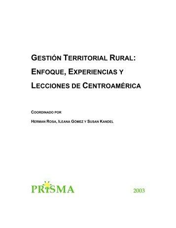 Gestion territorial-2003 - Territorios Centroamericanos