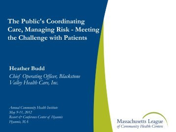 NextGen - Massachusetts League of Community Health Centers