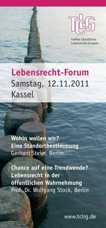 TCLG Forum 111112 Einladung
