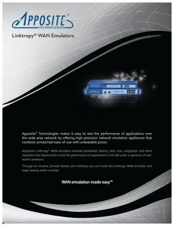 Linktropy® WAN Emulators