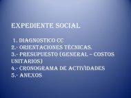 Estructura del Diagnostico Comunitario - Vivienda, Construcción y ...