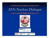 AFN Nuclear Dialogue - Assembly of First Nations