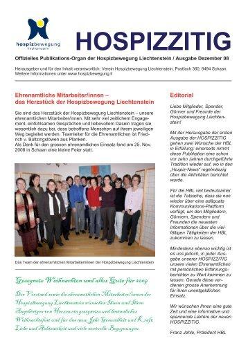 12/2008 - Hospizbewegung Liechtenstein