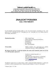 ZNALECKÝ POSUDEK číslo: 3726-1606/2011 - e-aukce