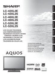 LC-42XL2E/S/46XL2E/S/52XL2E/S Operation-Manual GB - Sharp
