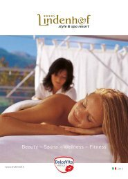 Beauty – Sauna – Wellness – Fitness - Dolce Vita Hotels