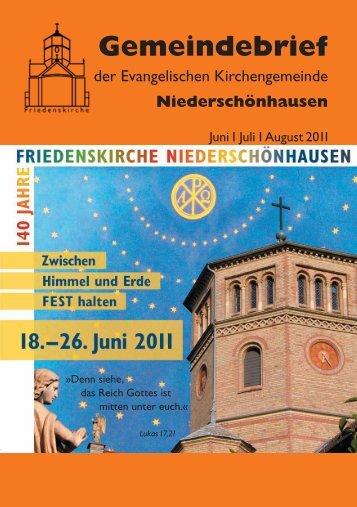 2011 Juni – Juli – August - Friedenskirche Niederschönhausen