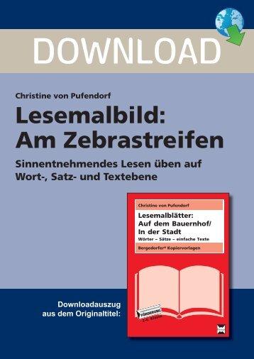 Lesemalbild: Am Zebrastreifen - Persen Verlag GmbH