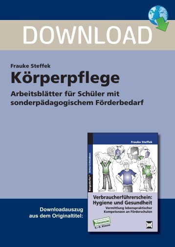 Frauke Steffek Körperpflege Arbeitsblätter für ... - Persen Verlag GmbH
