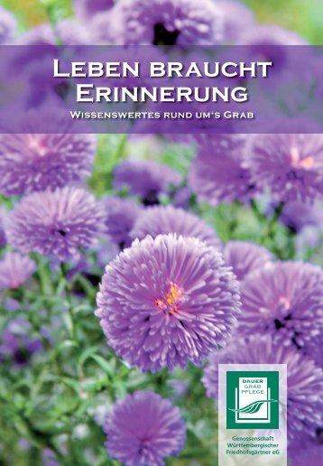 Leben braucht Erinnerung - Genossenschaft Württembergischer ...