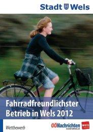 fahrradfreundlichster betrieb in wels_A5.indd - Stadt Wels