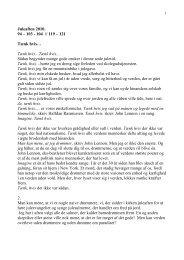Juleaften 2010. 94 – 103 - 104 // 119 – 121 Tænk hvis… Tænk hvis ...