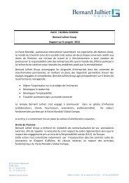 BERNARD JULHIET coP 2010 - Le Pacte Mondial