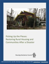 Picking Up the Pieces - Housing Assistance Council