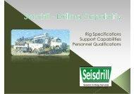 Seisdrill – Drilling Capability PDF Document - Velseis Pty Ltd.