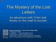 The Mystery of the Lost Letters - Dyslexia International