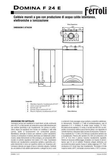 Ferroli Domitop F24e User Manual
