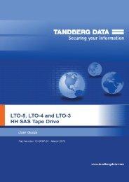 LTO half-height SAS Tape Drives User Guide - Tandberg Data