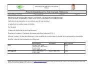 protocole standard pour les tests courants d'hemostase