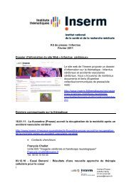Kit de presse / Infarctus Février 2011 * Dossier d'information du site ...