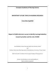 Members Interests Survey - The European Academy of Nursing ...