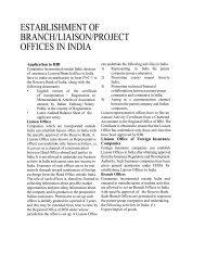 Establishment of Branch/Liaison/Project office in India