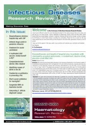 Infectious Diseases Research Review - Infection Control