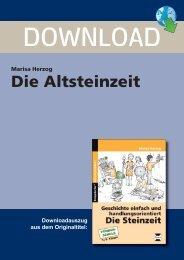 Marisa Herzog Die Altsteinzeit - Persen Verlag GmbH