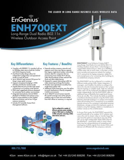 EnGenius ENH700EXT Datasheet (PDF) - 4Gon