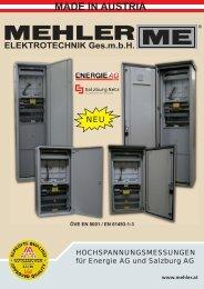 Broschüre als PDF downloaden - Mehler Elektrotechnik Ges.m.b.H
