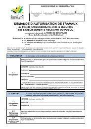 demande d'autorisation de travaux ERP - Brumath