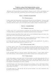 Volební a jednací řád AS PF UP