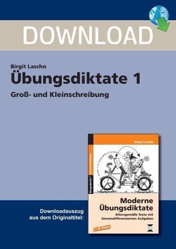 Birgit Lascho Übungsdiktate 1 Groß- und ... - Persen Verlag GmbH