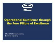 Operational Excellence - David McIntyre - Centra Industries - Oct 2012
