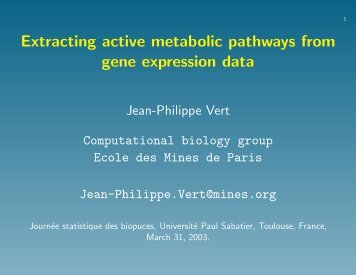 Extracting active metabolic pathways from gene expression data