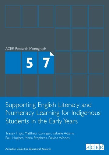 Supporting English Literacy and Numeracy Learning for ... - ACER