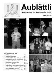 Aublättli Januar 2009 - Farbiges Schwamendingen