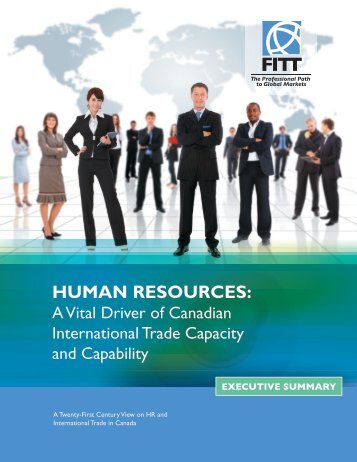 HUMAN RESOURCES: - Forum for International Trade Training