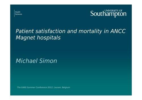 Simon-Michael-Leuven.. - The European Academy of Nursing Science