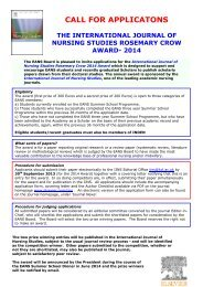 Application Form - The European Academy of Nursing Science