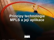 Principy technologie MPLS a její aplikace Principy technologie ...