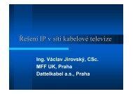 Řešení IP v síti kabelové televize