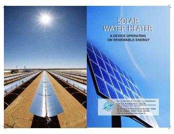 solar water heater solar water heater - Delhi Transco Limited