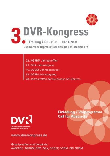 Programm - DIR Deutsches IVF Register