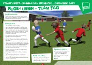 Rugby Union challenge card - School Games