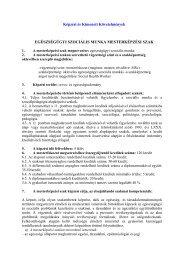 Képzési és Kimeneti Követelmények