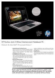 PSG Consumer 3C10 HP Notebook Datasheet - BT Shop