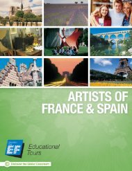 Artists of France & Spain - EF Educational Tours