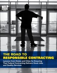 The Road To RESPONSIBLE CONTRACTING